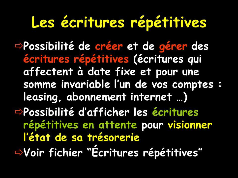 Les écritures répétitives