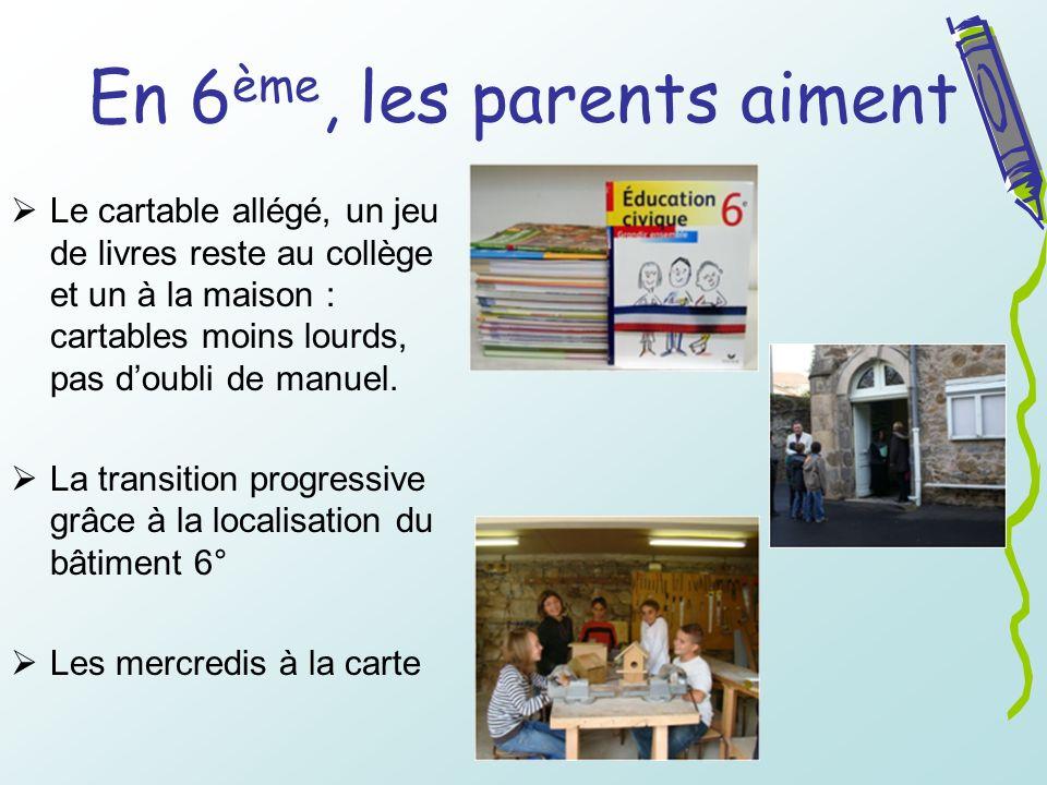 En 6ème, les parents aiment