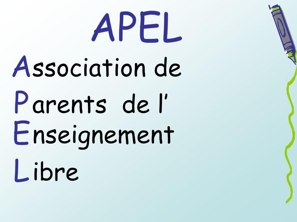 APEL A ssociation de P arents de l' E nseignement L ibre