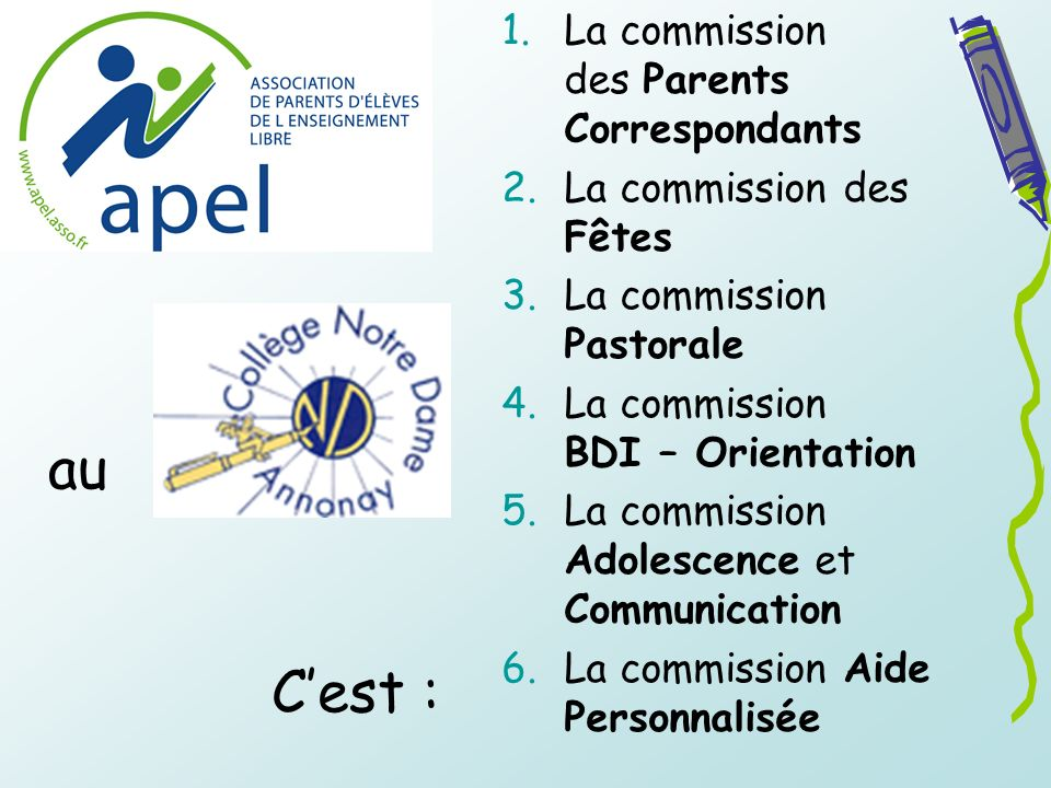 au C'est : La commission des Parents Correspondants