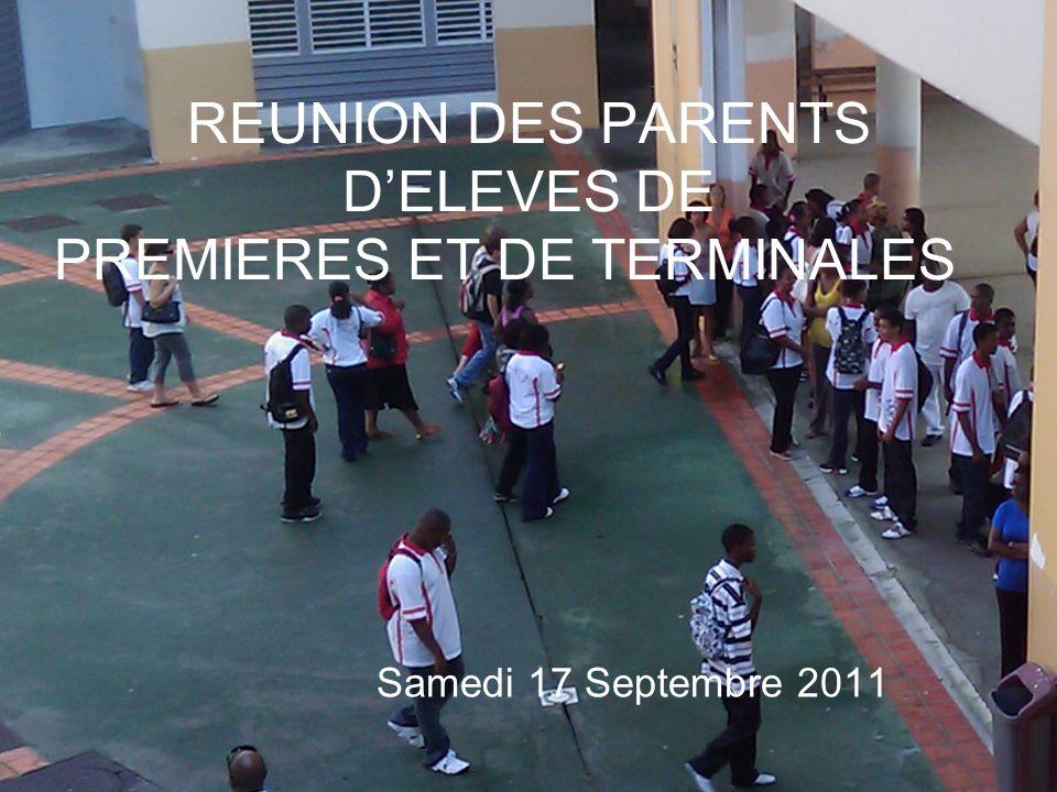 REUNION DES PARENTS D'ELEVES DE PREMIERES ET DE TERMINALES