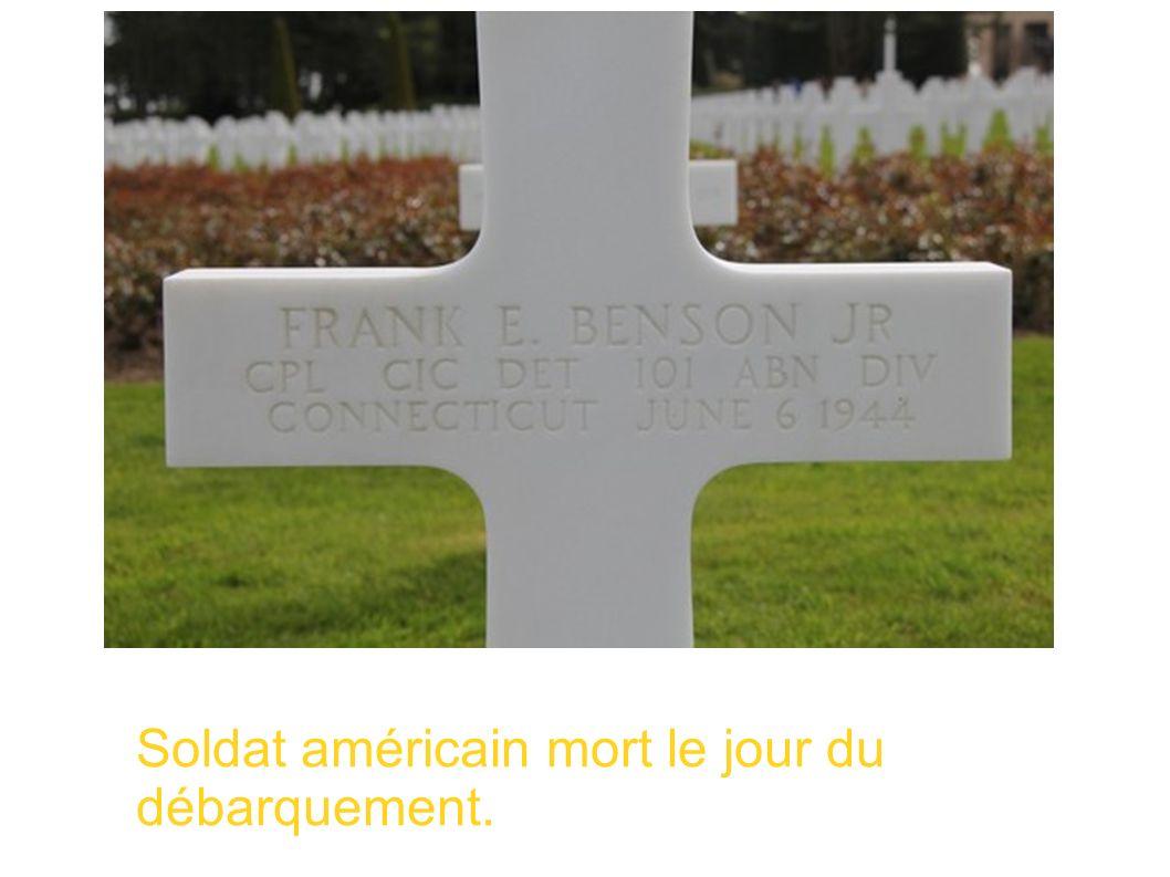 Soldat américain mort le jour du débarquement.