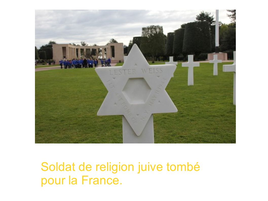 Soldat de religion juive tombé pour la France.