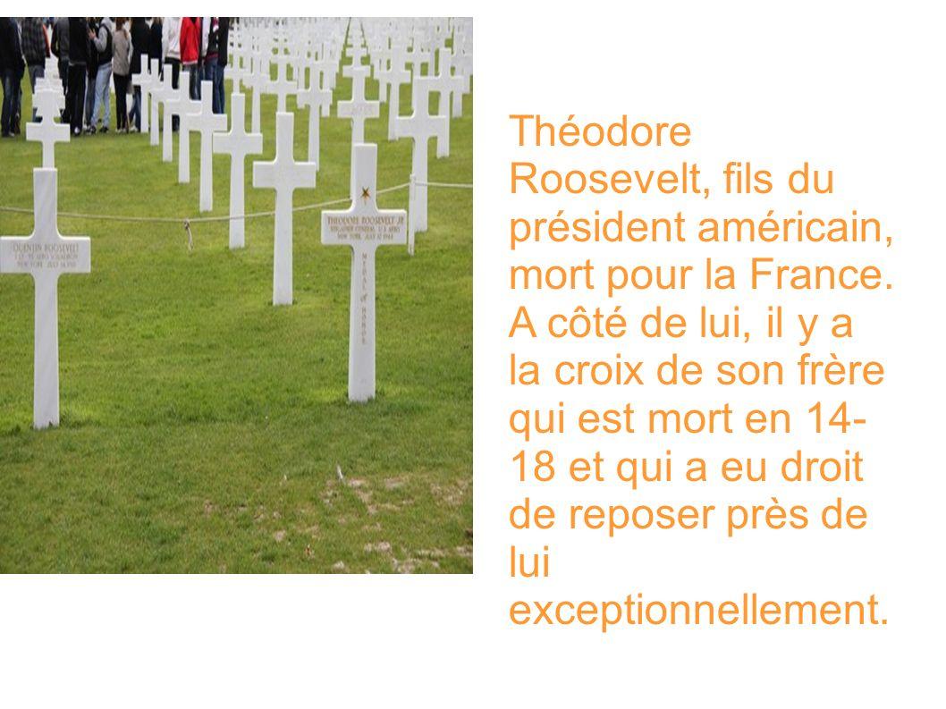Théodore Roosevelt, fils du président américain, mort pour la France.