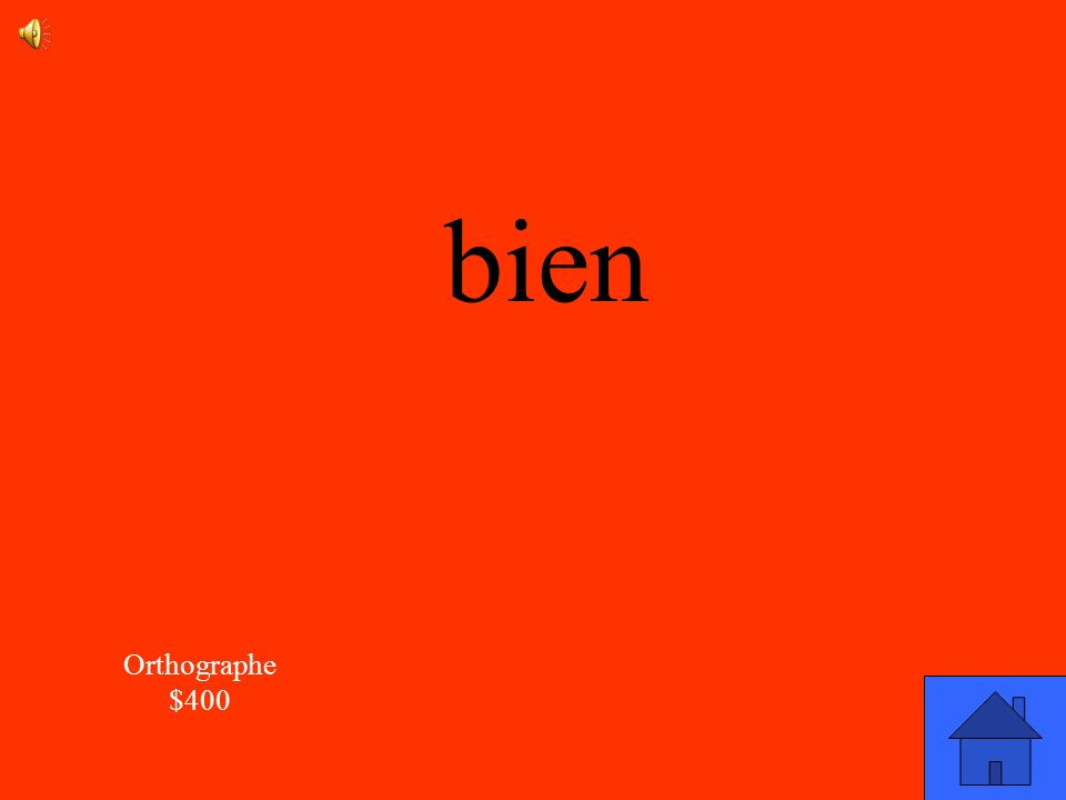 bien Orthographe $400