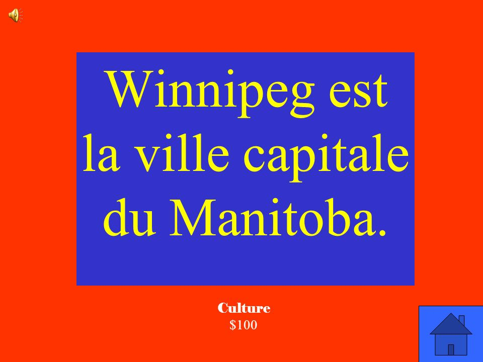 Winnipeg est la ville capitale du Manitoba.