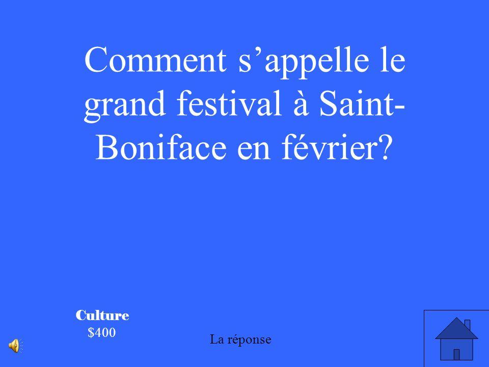 Comment s'appelle le grand festival à Saint-Boniface en février