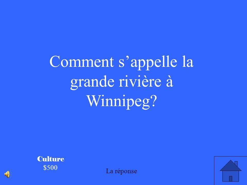 Comment s'appelle la grande rivière à Winnipeg