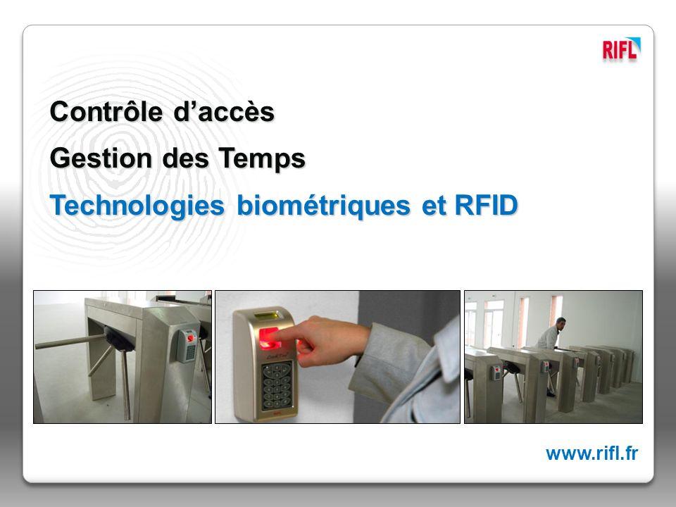 Technologies biométriques et RFID