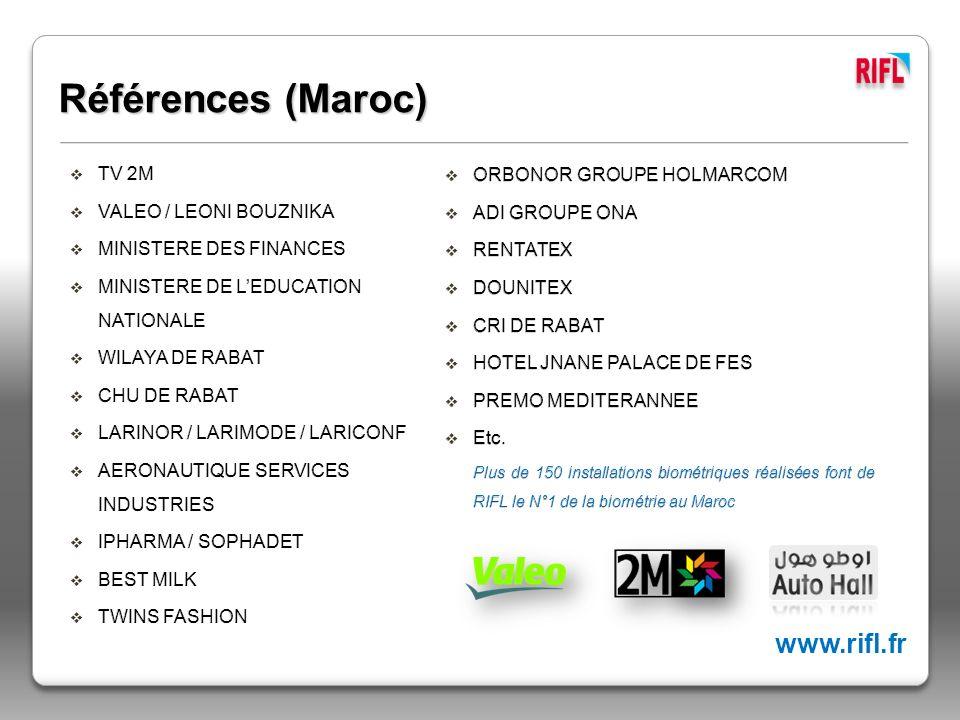 Références (Maroc) www.rifl.fr TV 2M ORBONOR GROUPE HOLMARCOM
