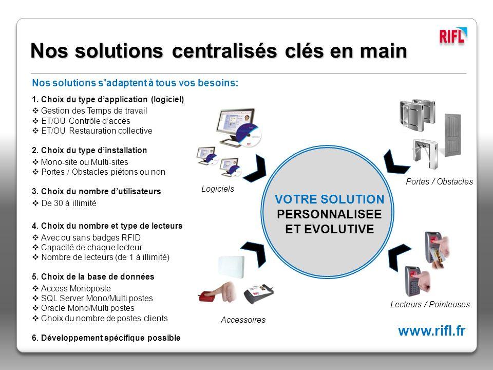 Nos solutions centralisés clés en main