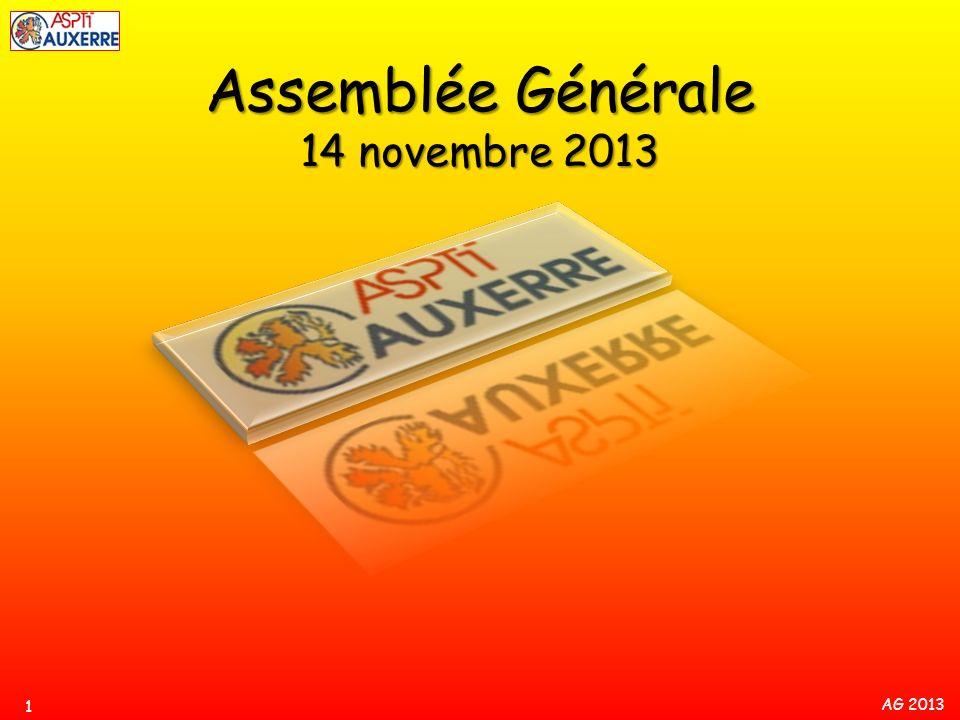 Assemblée Générale 14 novembre 2013