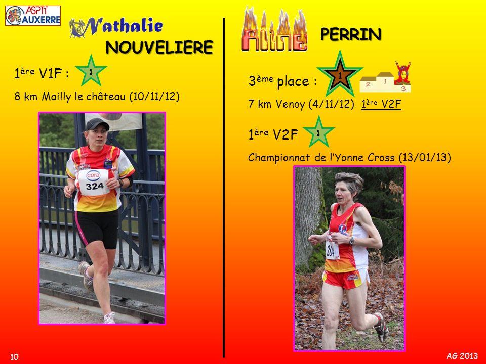 PERRIN NOUVELIERE 1ère V1F : 3ème place : 1ère V2F