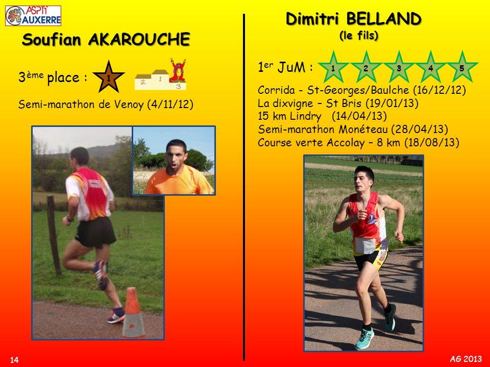 Dimitri BELLAND Soufian AKAROUCHE 1er JuM : 3ème place : (le fils)