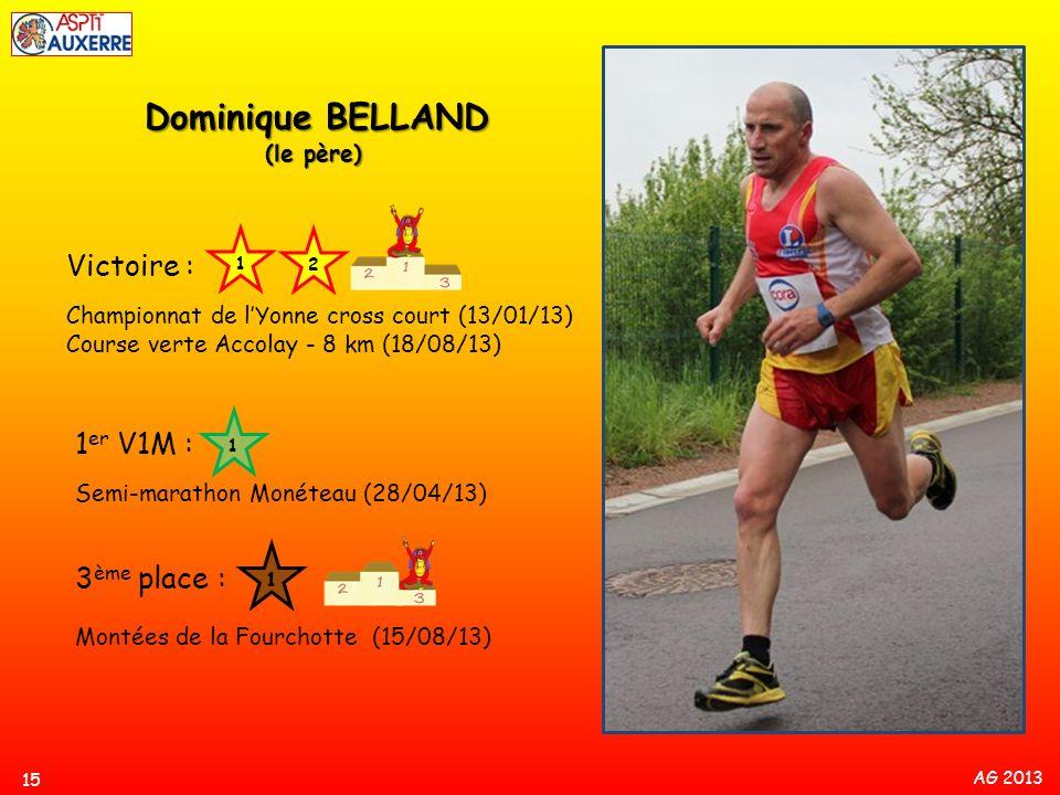 Dominique BELLAND Victoire : 1er V1M : 3ème place : (le père)
