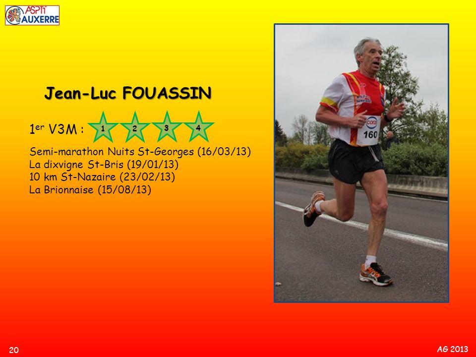 Jean-Luc FOUASSIN 1er V3M : Semi-marathon Nuits St-Georges (16/03/13)