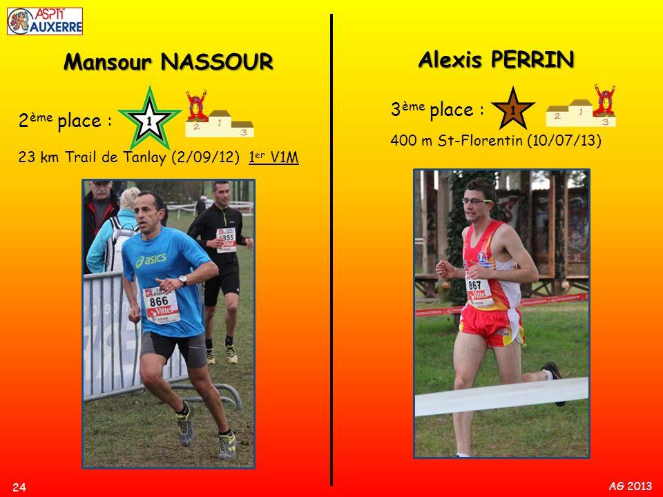 Alexis PERRIN Mansour NASSOUR 3ème place : 2ème place :