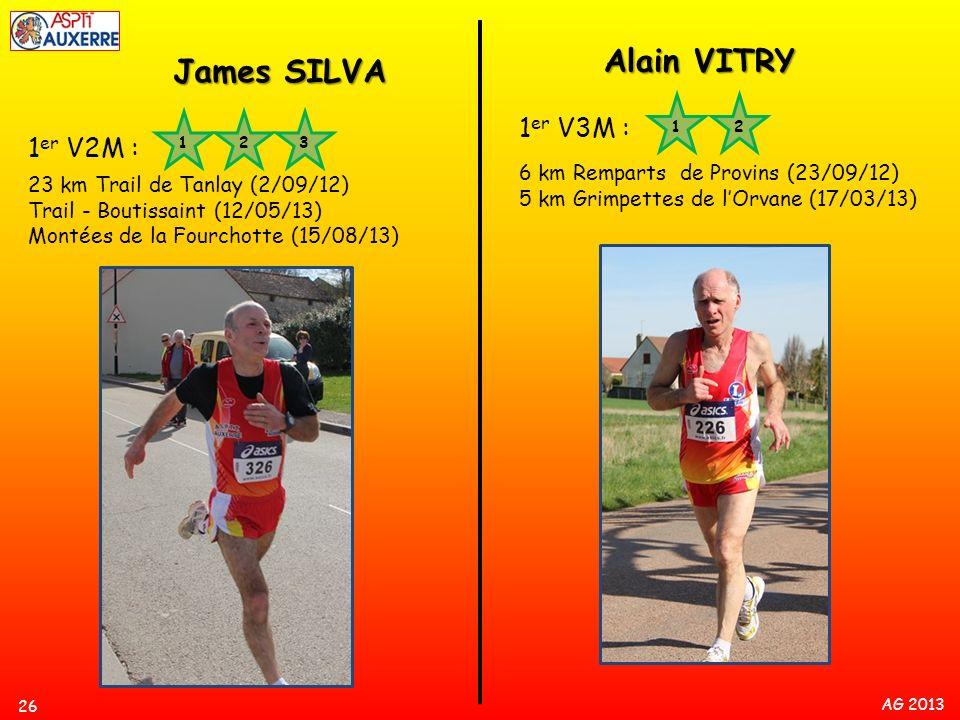 Alain VITRY James SILVA 1er V3M : 1er V2M :