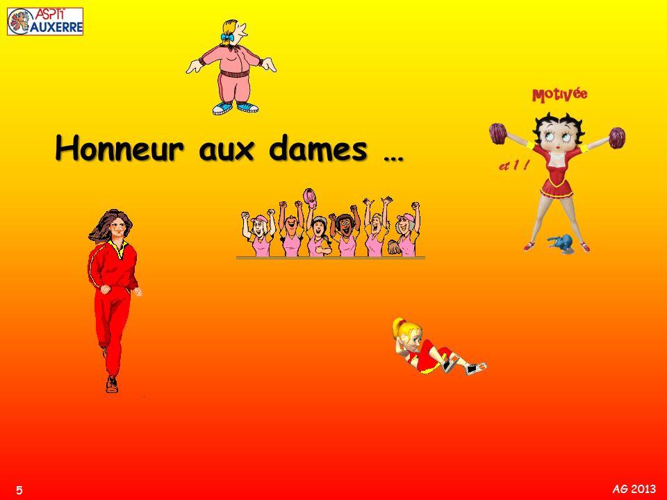 Honneur aux dames …