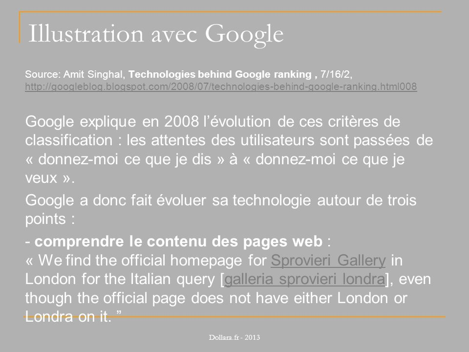 Illustration avec Google