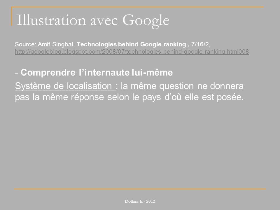 Illustration avec Google