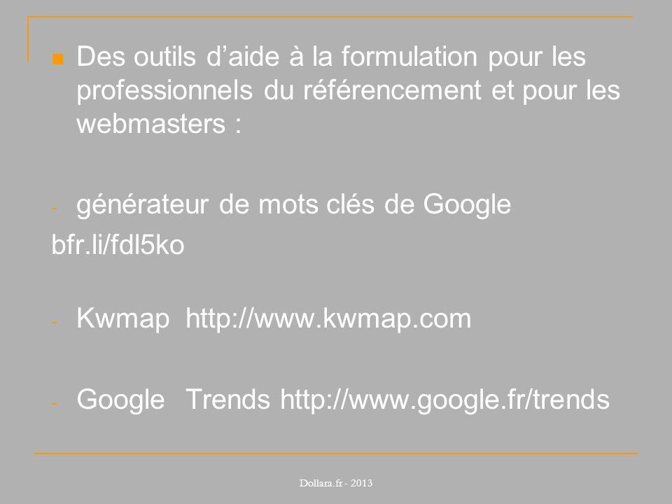 générateur de mots clés de Google bfr.li/fdl5ko