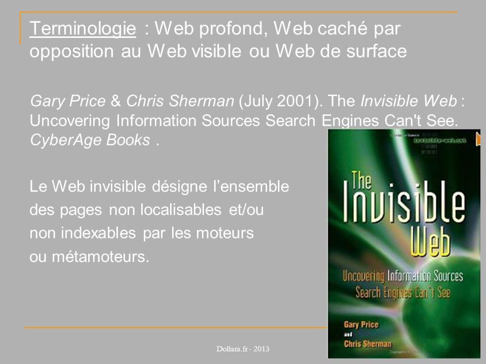 Terminologie : Web profond, Web caché par opposition au Web visible ou Web de surface