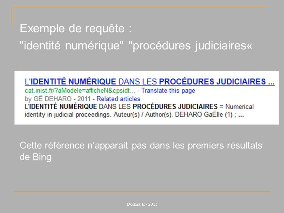 identité numérique procédures judiciaires«