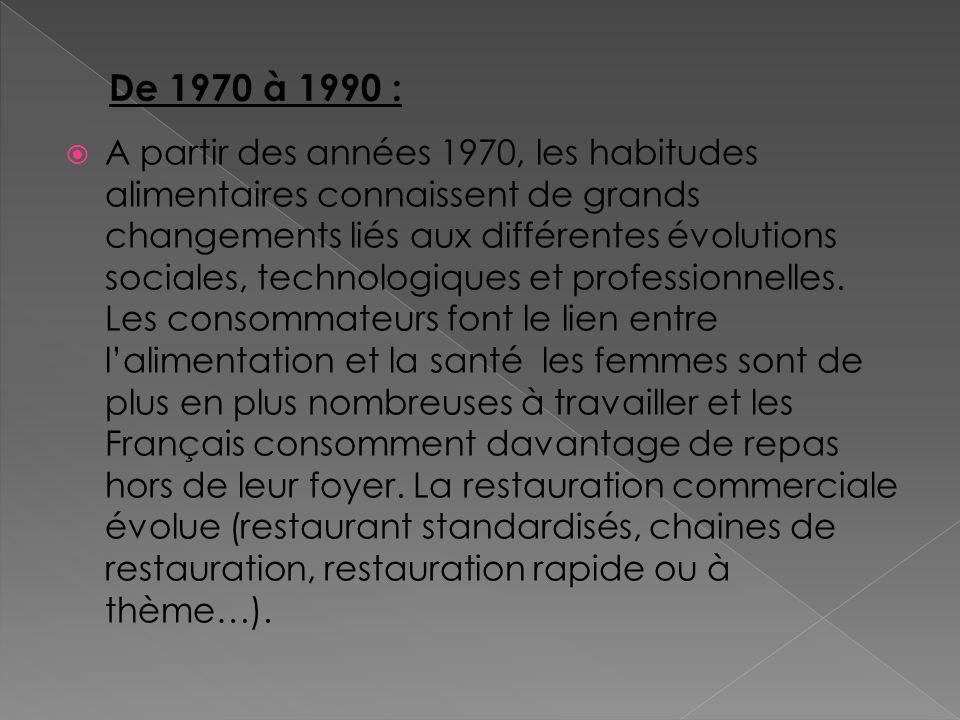 De 1970 à 1990 :