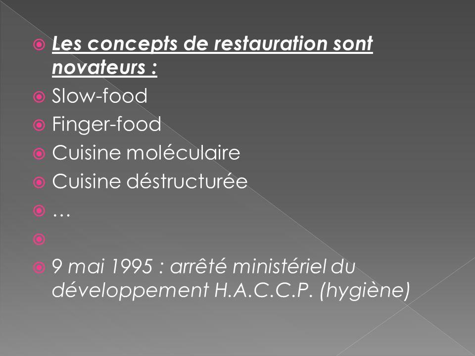 Les concepts de restauration sont novateurs :