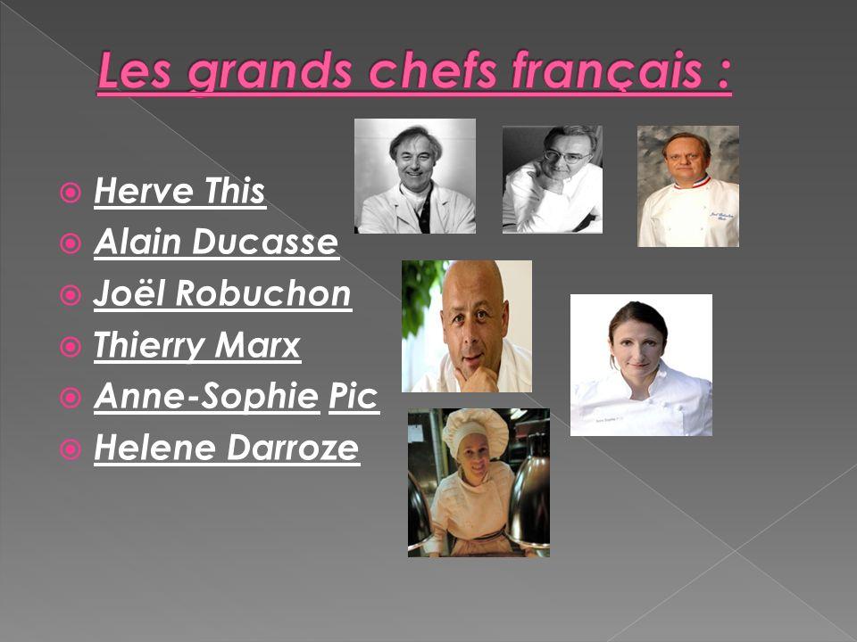 Les grands chefs français :