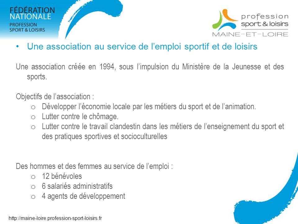 Une association au service de l'emploi sportif et de loisirs