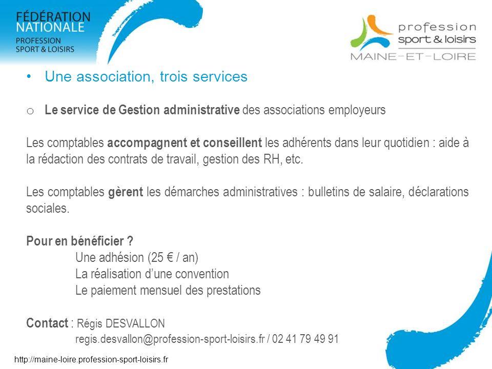 Une association, trois services
