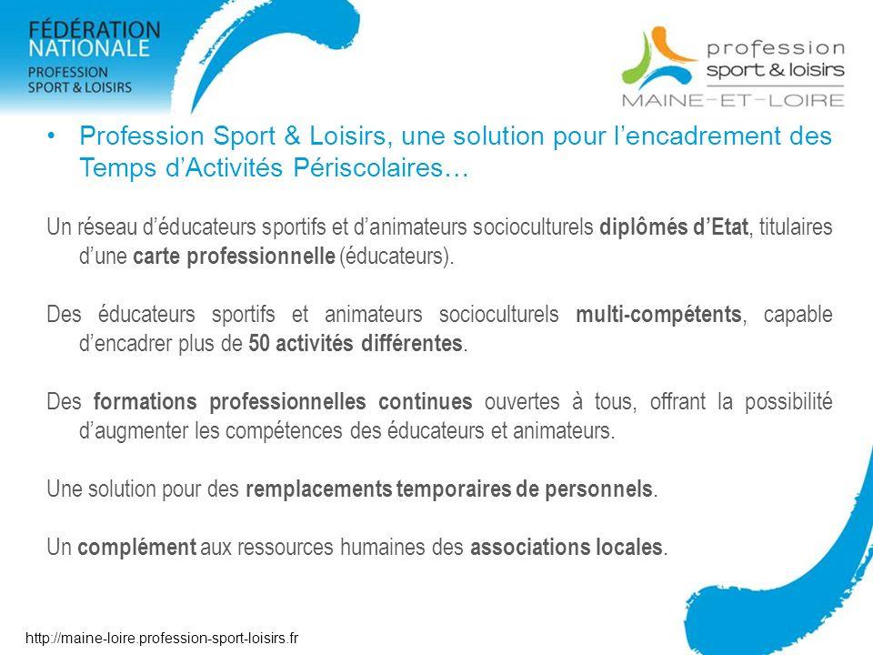 Profession Sport & Loisirs, une solution pour l'encadrement des Temps d'Activités Périscolaires…