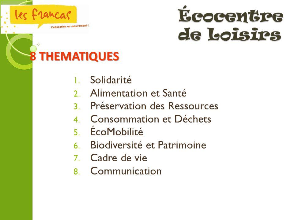 8 THEMATIQUES Solidarité Alimentation et Santé