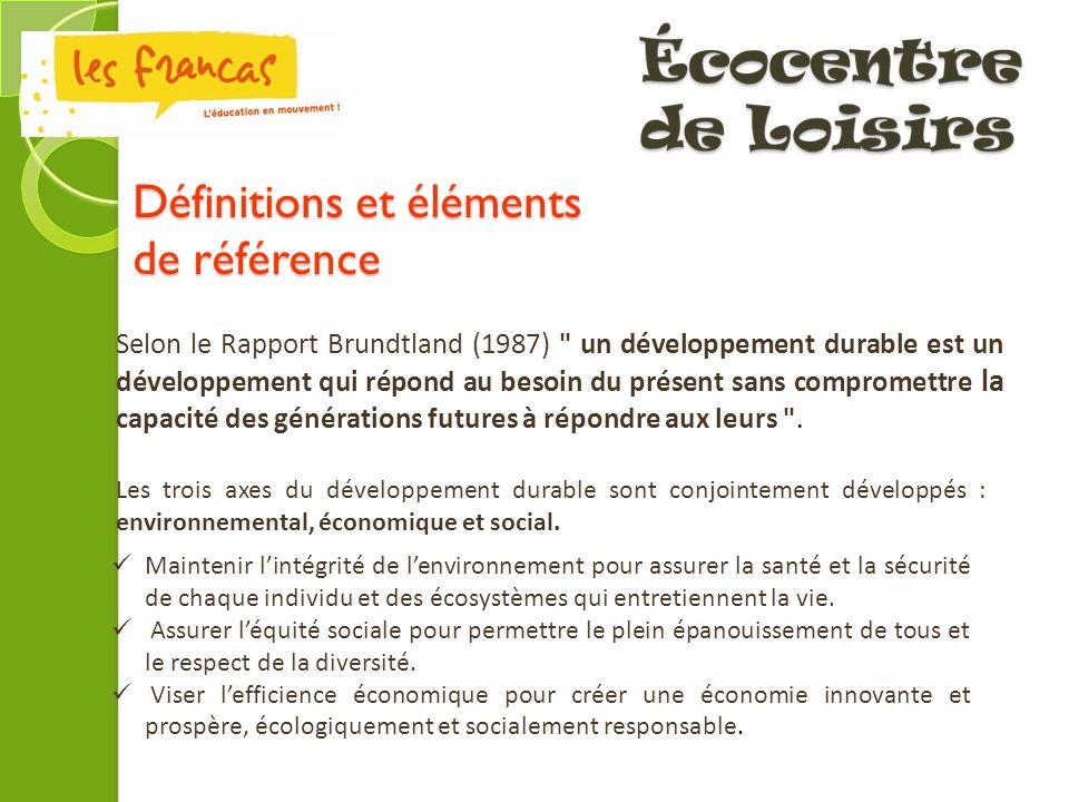 Définitions et éléments de référence