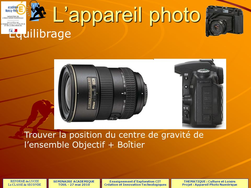 L'appareil photo Equilibrage