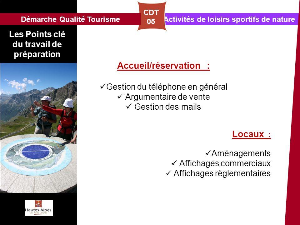 Accueil/réservation :