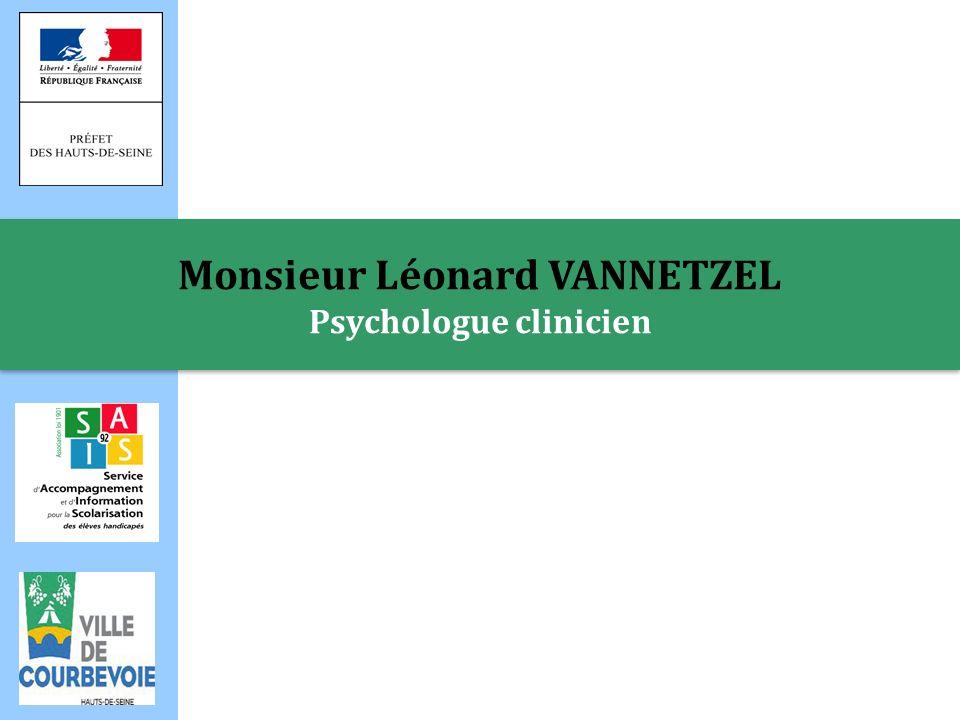 Monsieur Léonard VANNETZEL Psychologue clinicien