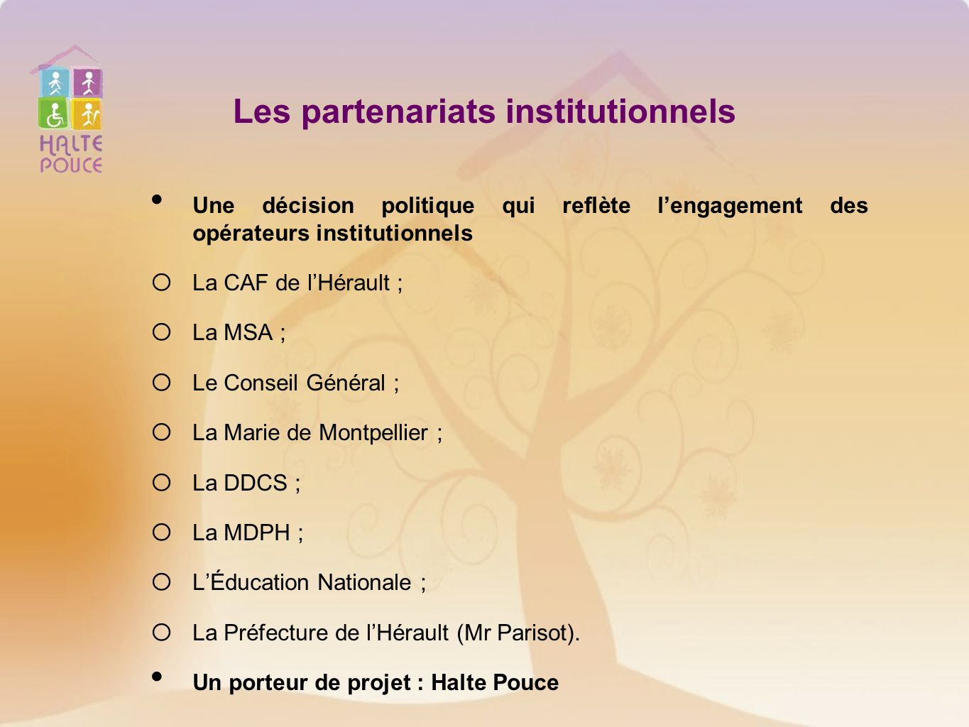 Les partenariats institutionnels