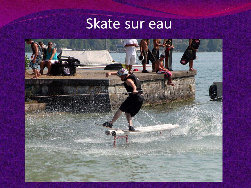 Skate sur eau