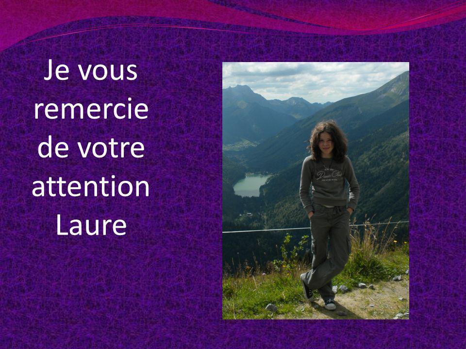 Je vous remercie de votre attention Laure