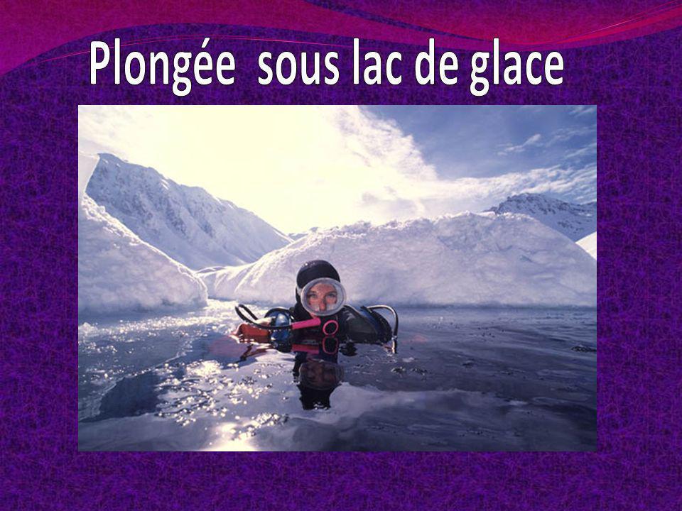 Plongée sous lac de glace