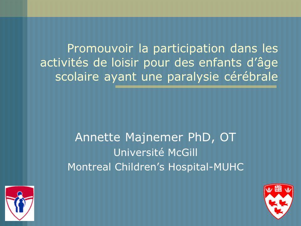 Annette Majnemer PhD, OT