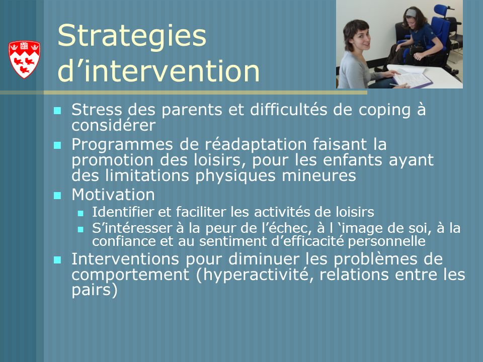 Strategies d'intervention