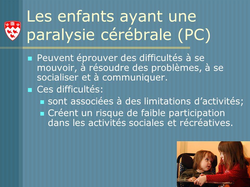 Les enfants ayant une paralysie cérébrale (PC)