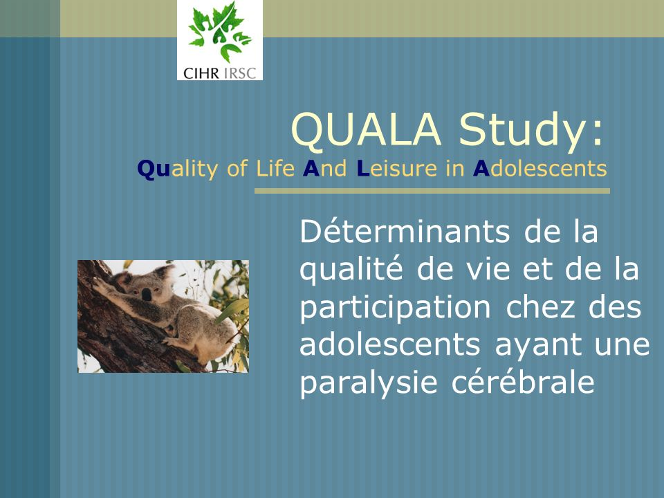 QUALA Study: Quality of Life And Leisure in Adolescents