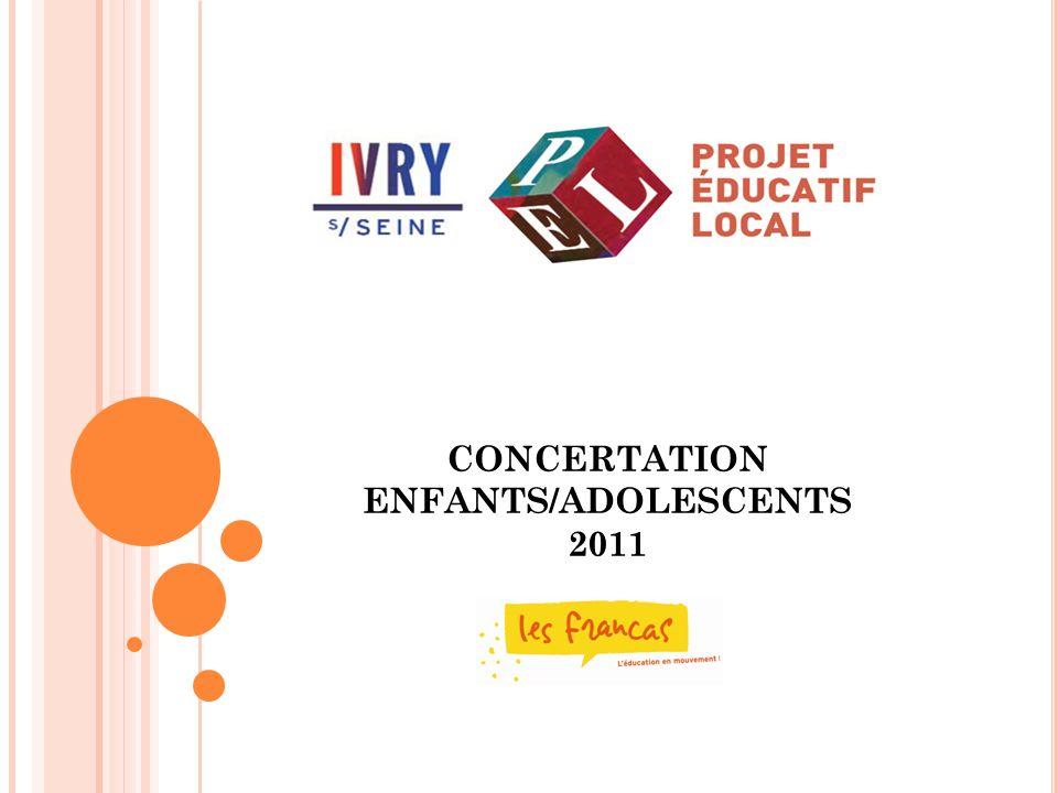 CONCERTATION ENFANTS/ADOLESCENTS 2011