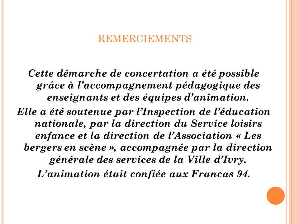 L'animation était confiée aux Francas 94.