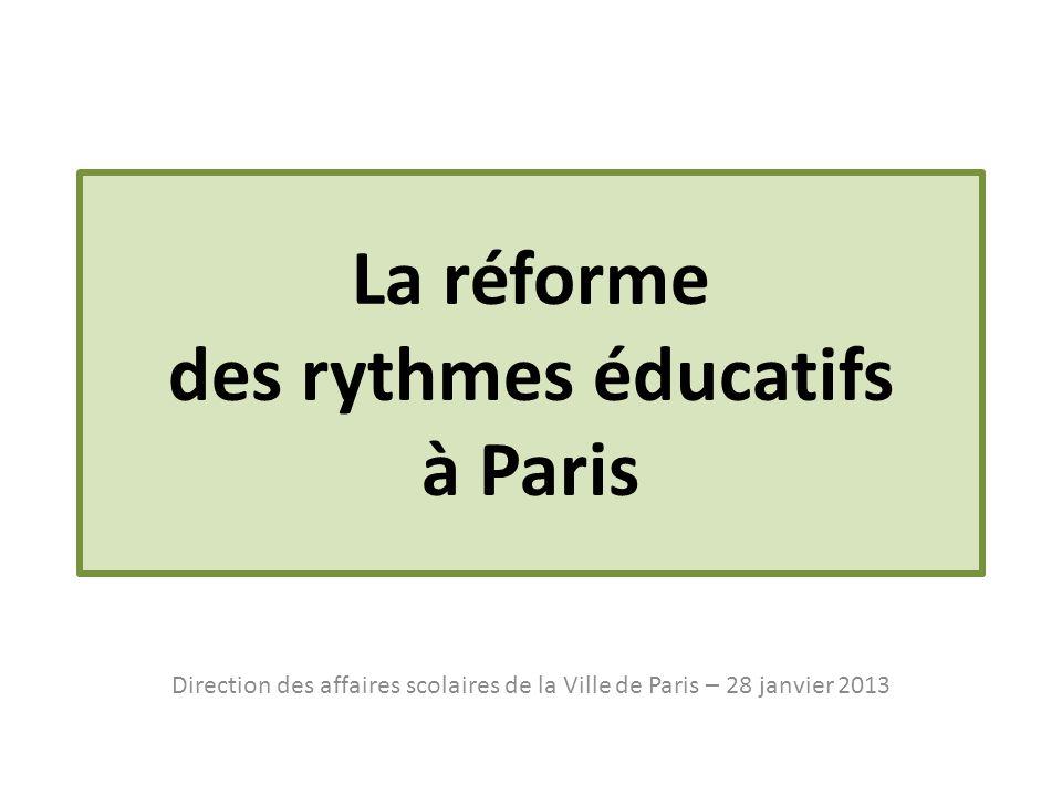 La réforme des rythmes éducatifs à Paris